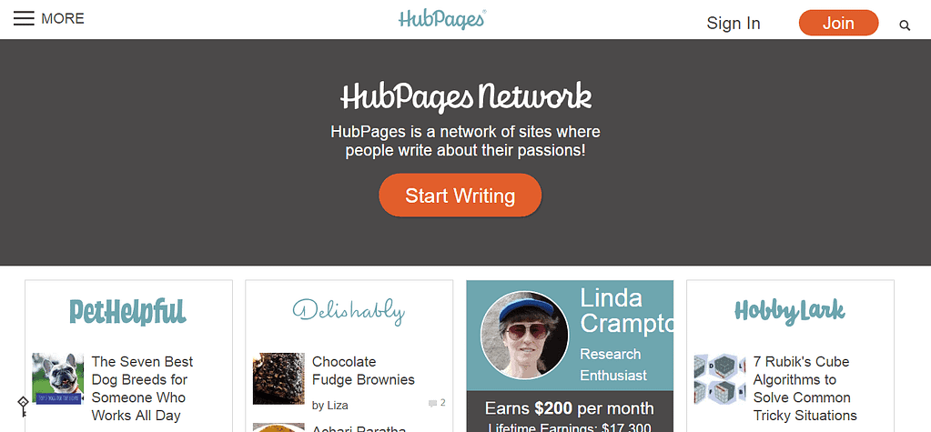 hubpages snapshot